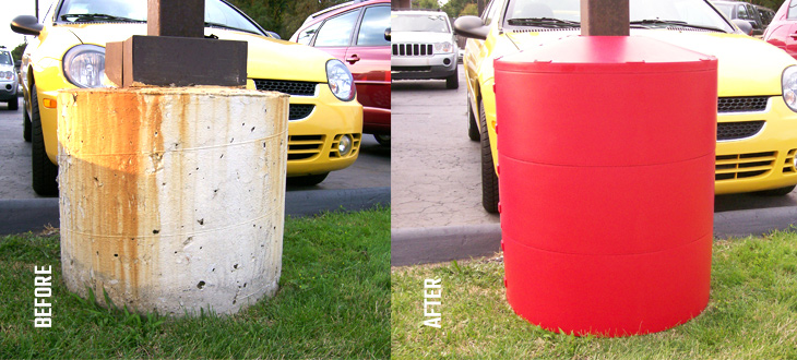 poletector before and after