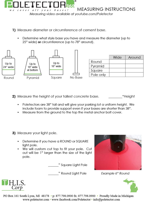poletector measuring guide