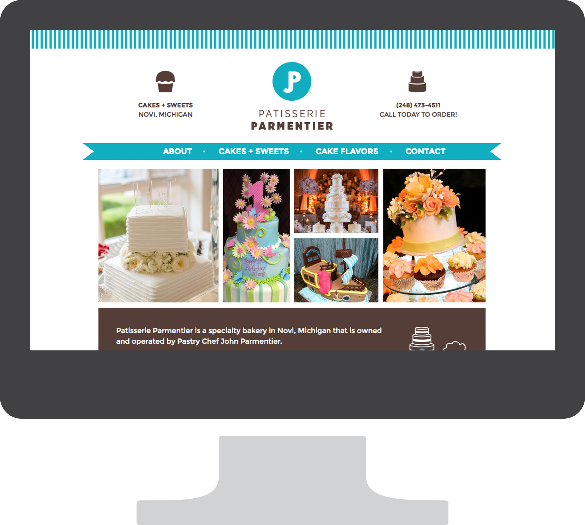Patisserie Parmentier website mockup