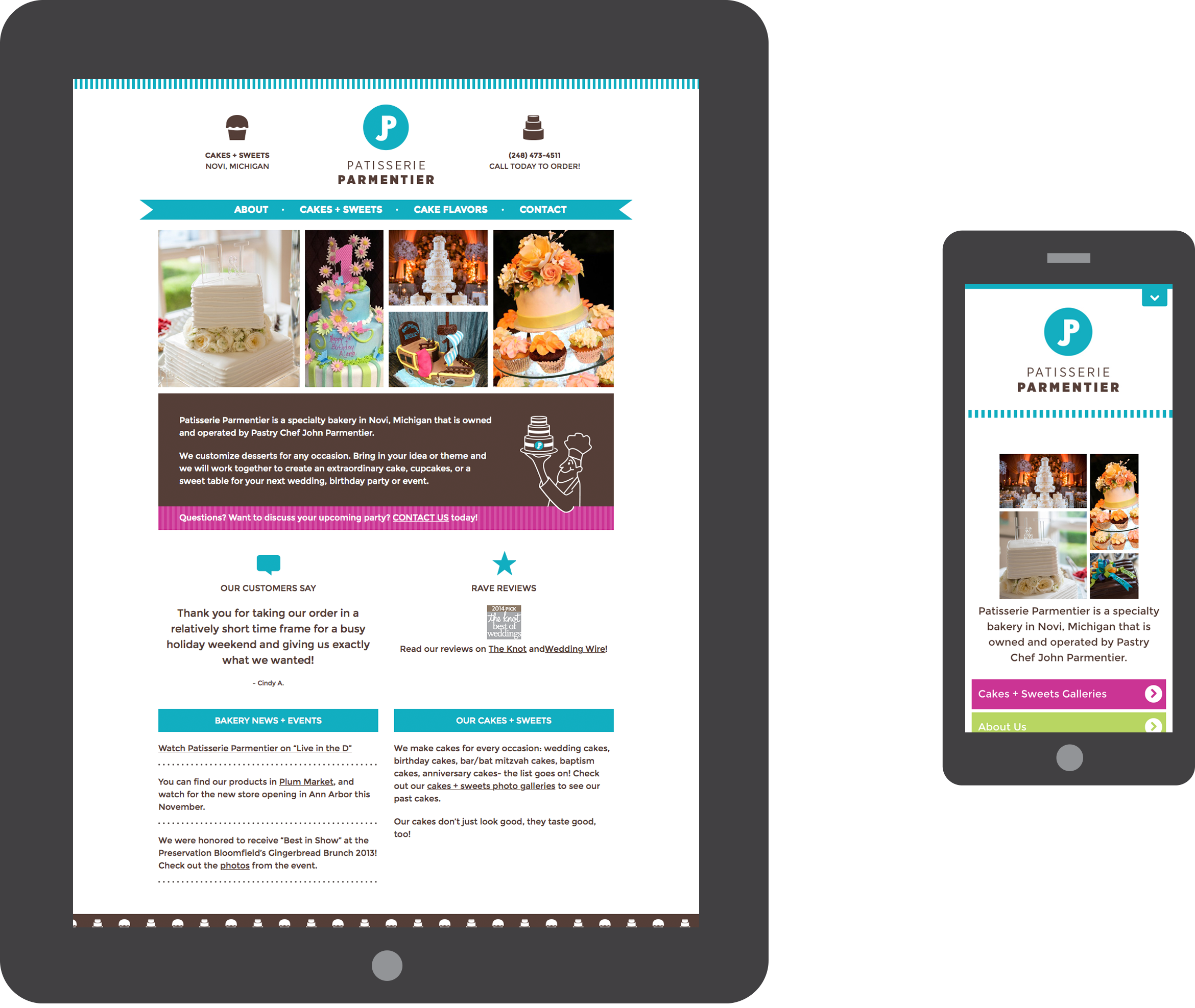 Patisserie Parmentier mobile websites