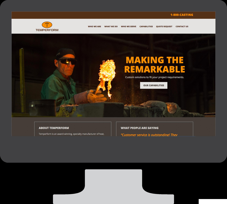 Temperform web site