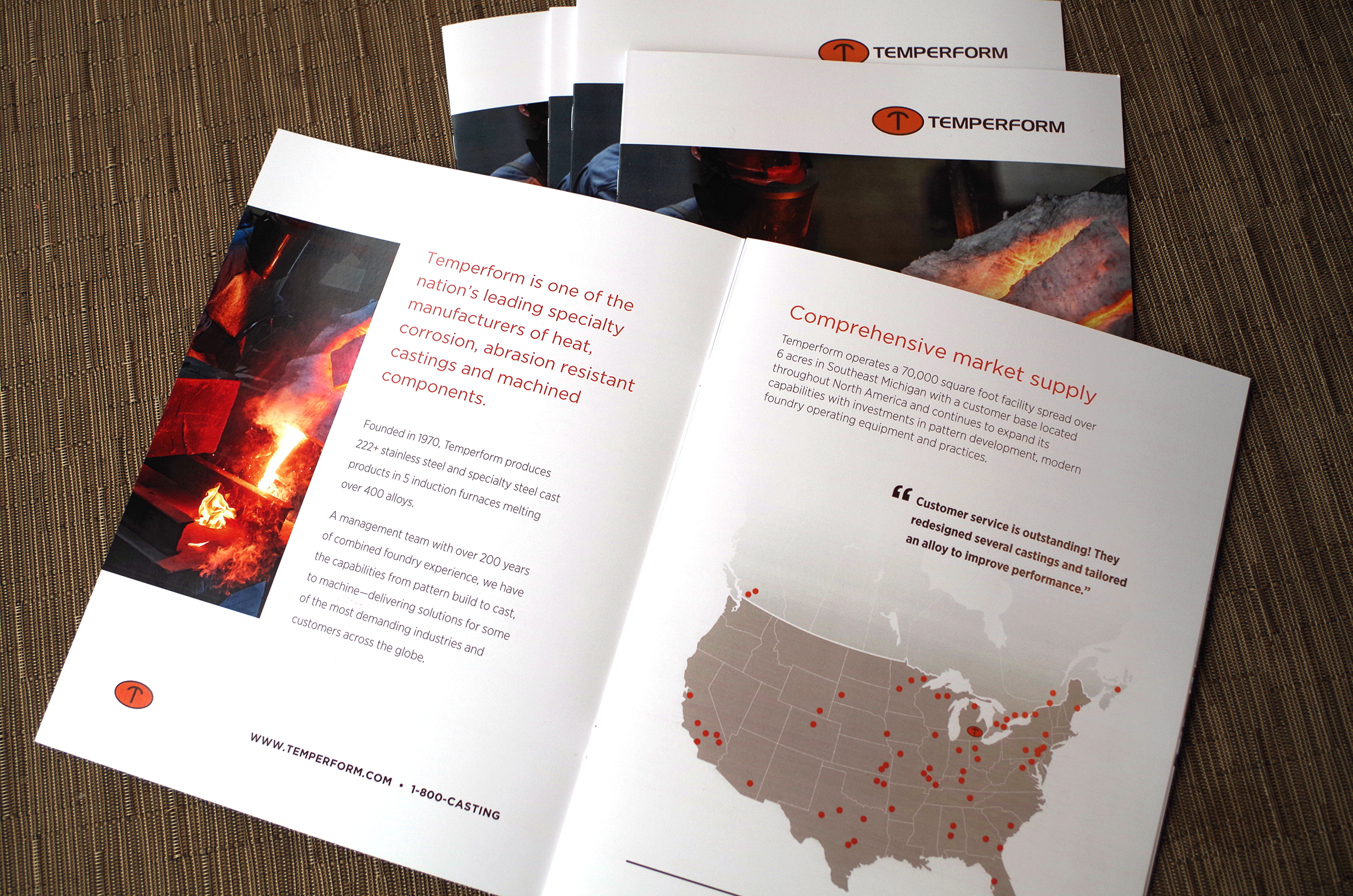 Temperform Product Brochure with Custom Tables Charts and Graphs