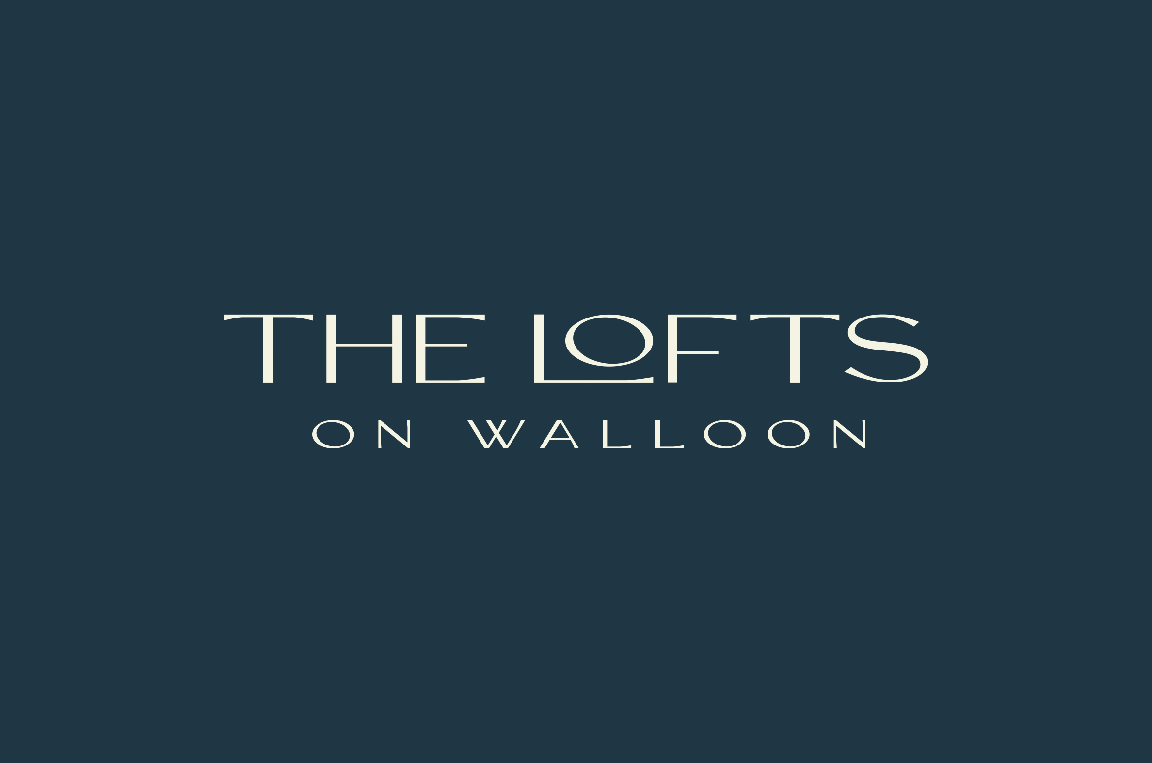 Logo and branding design for Lofts on Walloon